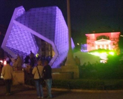 Noc muzeów 2013, na pl. Wolności, Poznań, fot. Stefania Pruszyńska