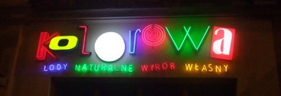 4. Neon KOLOROWA, fot. stefania Pruszyńska, DSCF3037
