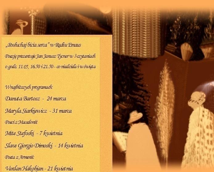 Audycje Posłouchaj bicia serca, w marcu i kwietniu 2013, graf. SP