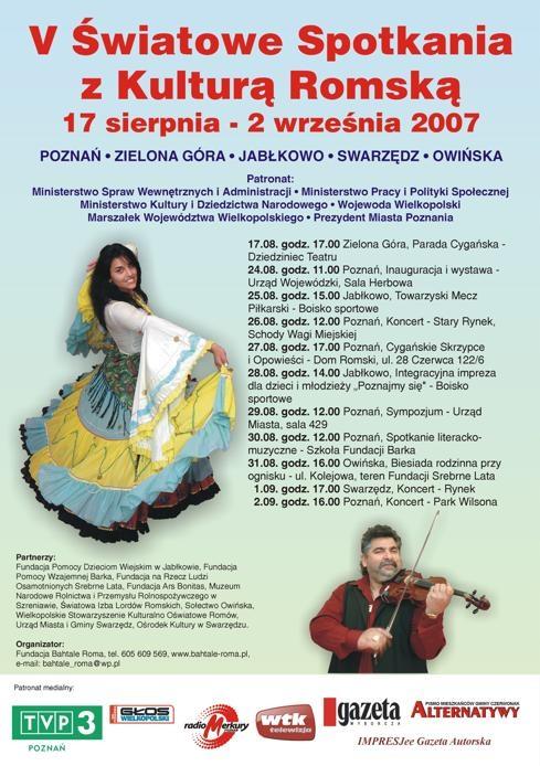 5 św. spotkania z Kultura romska 7 sierpnia 2007