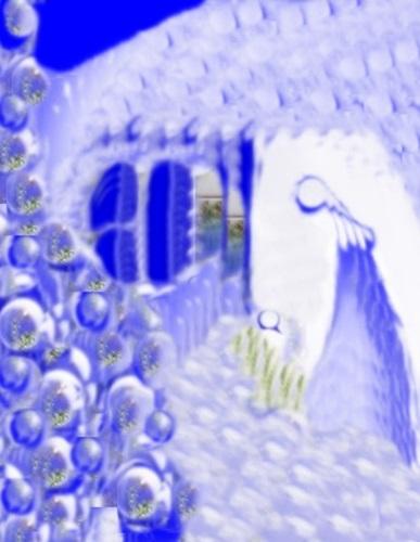 NEOa1 r. 500, W izbie śnieżnej, Opracowane 2, 1. Wł. r. 2500, Życzenia bożonarodzeniowe 2015, żłóbek śnieżny, grafika tw.6, SP — kopia
